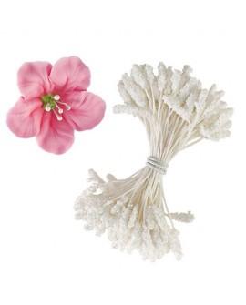 Pręciki do kwiatów Wilton BIAŁE 150 szt