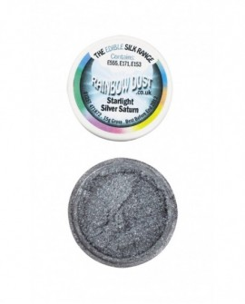 Barwnik pyłkowy PERŁOWY SREBRNY SATURN Rainbow Dust