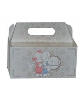 Pudełko na ciasto 19x14 cm Wysokość 9 cm KOMUNIA