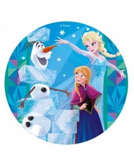 Opłatek na tort KRAINA LODU 20 cm Frozen Elsa