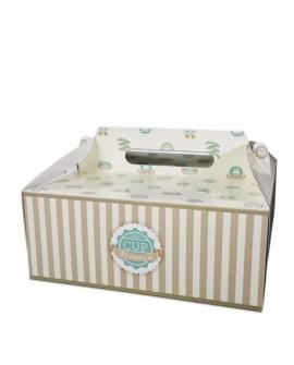 Opakowanie 26x26x12 cm CUPCAKE pudełko na tort