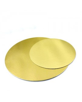 Podkład pod tort złoty cienki 22 cm