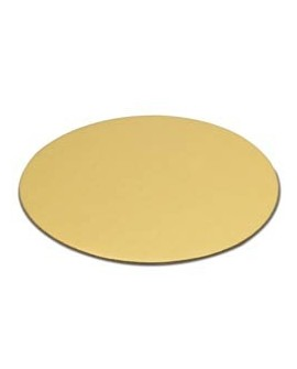 Podkład pod tort złoty cienki 12 cm - 10 szt. Bankietówka