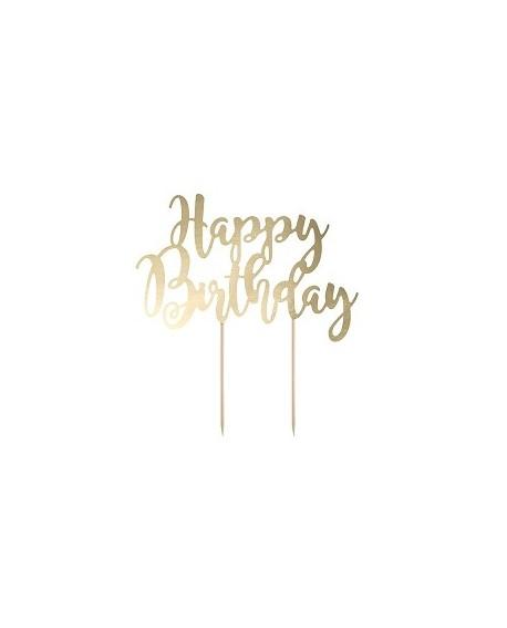 """Topper """"Happy Birthday"""" ZŁOTY Ozdoba na tort"""
