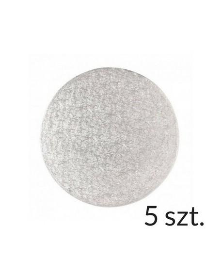 Podkład pod tort 12 mm SZTYWNY 23 cm - 5 szt.