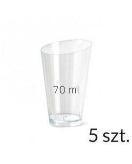 Pucharek trójkątny 70 ml zestaw 5 szt.