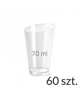 Pucharek trójkątny 70 ml zestaw 60 szt.