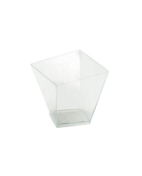 Pucharek kwadratowy 120 ml zestaw 40 szt.