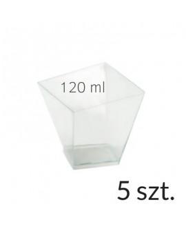 Pucharek kwadratowy 120 ml zestaw 5 szt.