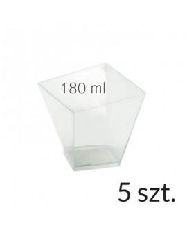 Pucharek kwadratowy 180 ml zestaw 5 szt.