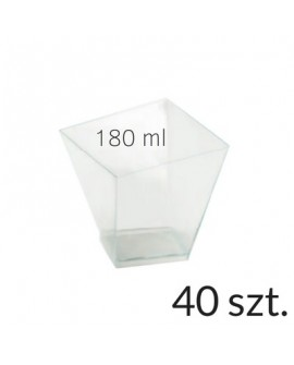 Pucharek kwadratowy 180 ml zestaw 40 szt.