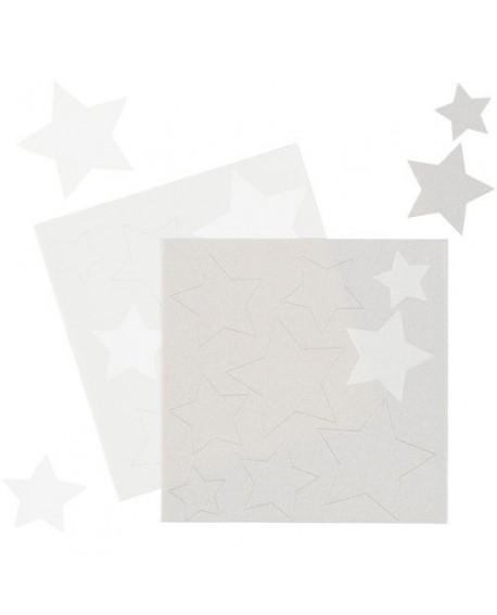 Gwiazdki Z Papieru Cukrowego Srebrne I Białe Wilton 18 Szt