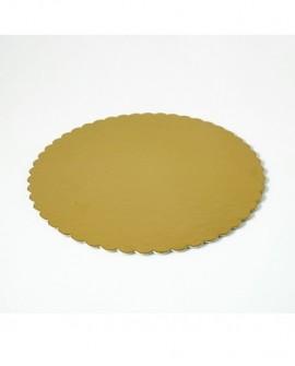 Podkład pod tort złoty gruby 22 cm