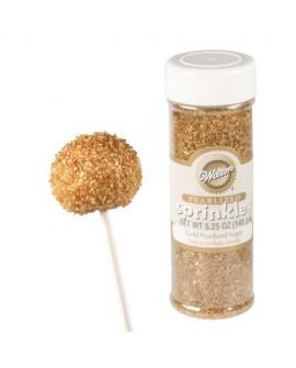 Kryształki cukrowe Wilton 150 g perłowy cukier ZŁOTY