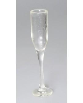 Dekoracja plastikowa KIELISZEK do szampana 2 szt.
