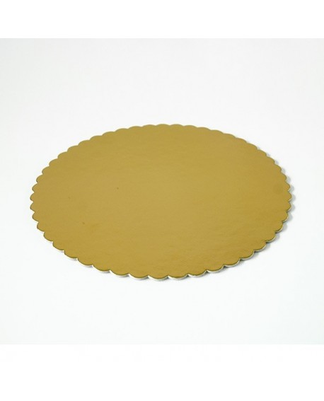 Podkład pod tort złoty gruby 32 cm