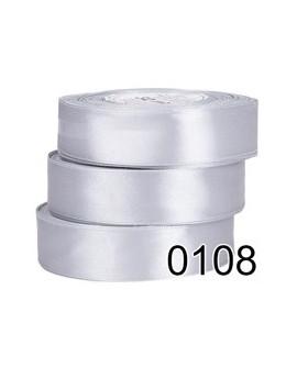Wstążka satynowa 12mm SREBRNA 32m