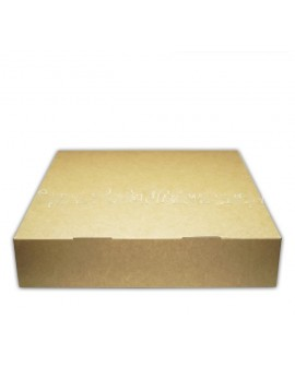 Opakowanie 27x27x6 cm cm pudełko na tartę BRĄZ
