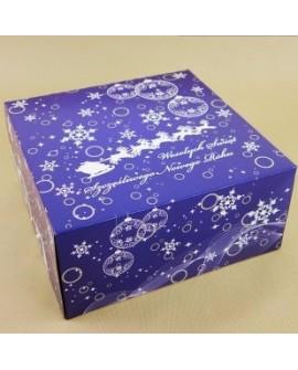 Opakowanie ŚWIĄTECZNE Niebieskie 22x22x11 cm