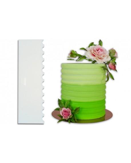 Skrobka dekoracyjna PME MUSZELKA akryl 25 cm Scalloped