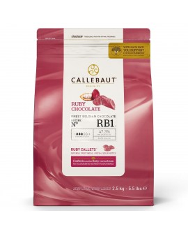 Dropsy czekoladowe Callebaut CZEKOLADA RUBINOWA 500g