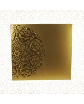 Złote pudełko na czekoladki 22x22 cm Sztywne