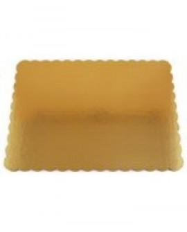 Podkład pod tort złoty gruby prostokąt 36x46 cm