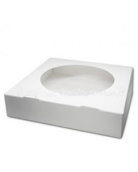 Opakowanie 27x27x6 cm cm pudełko na tartę z oknem