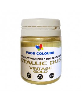 Barwnik pyłkowy Food Colours VINTAGE GOLD 20 g Patyna
