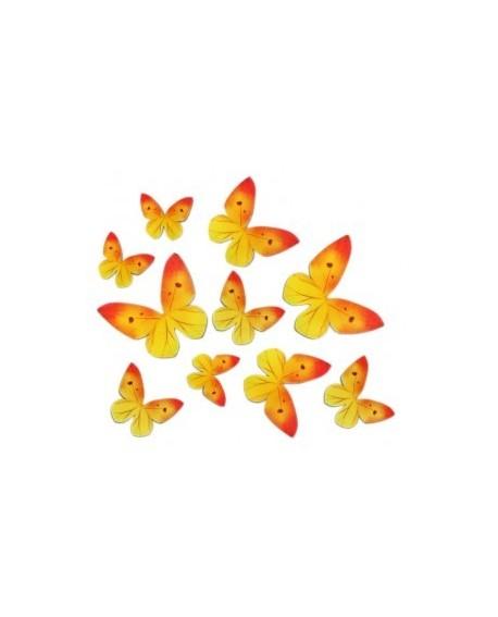 Motyle waflowe Żółte 87 szt.
