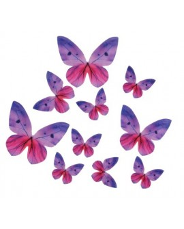 Motyle waflowe Fioletowe 87 szt.