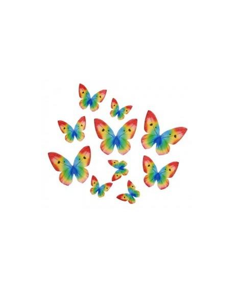 Motyle waflowe Tęczowe 87 szt.