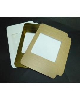 Kartonik na pierniczki 15x15x2 cm Biały Złoty Eko 10 szt