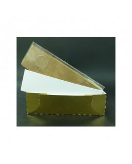 Kartonik na pierniczki Foliowe wieczko 14x14x4 cm Biały Złoty Eko 10 szt