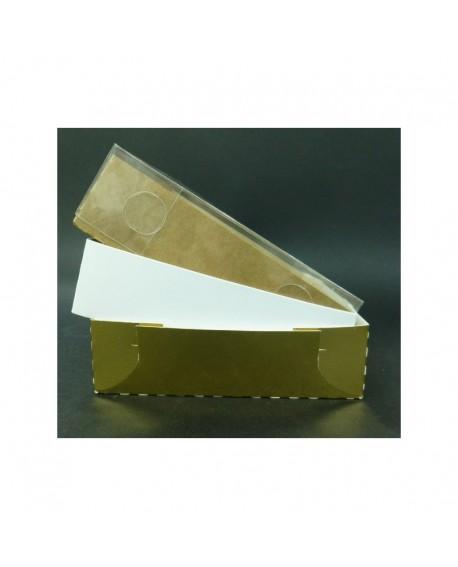 Kartonik na pierniczki Foliowe wieczko 14x14x4 cm Biały Złoty Eko