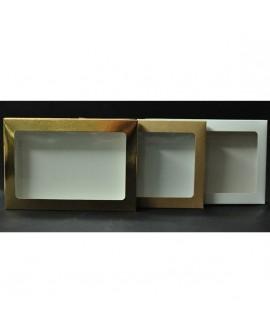 Kartonik na pierniczki 15x21x2 cm Biały Złoty Eko 10 szt + szufelka