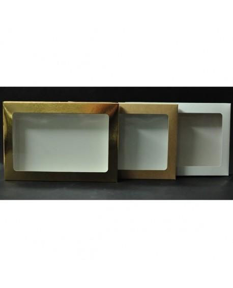Kartonik na pierniczki 15x21x2 cm Biały Złoty Eko