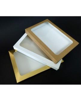 Kartonik na pierniczki 17x25x2 cm Biały Złoty Eko 10 szt + szufelka
