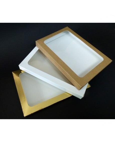 Kartonik na pierniczki 17x25x2 cm Biały Złoty Eko