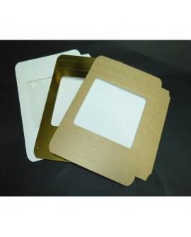 Kartonik na pierniczki 21x21x2 cm Biały Złoty Eko 10 szt + szufelka