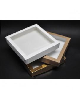 Kartonik na pierniczki 25x25x4 cm Biały Złoty Eko 5 szt.