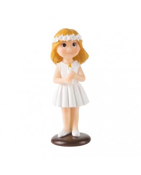 Figurka KOMUNIA Dziewczynka ze świecą 10 cm