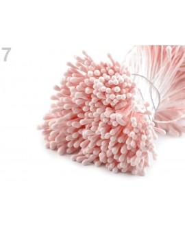 Pręciki do kwiatów JASNY RÓŻ matowe duża wiązka