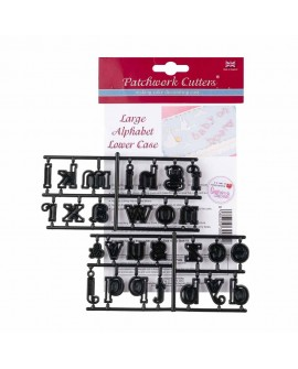 Wykrawaczka Patchwork ALFABET LOWER CASE 1 cm - litery małe