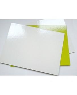 Podkład pod tort 30x30 cm KWADRATOWY biało-zielony