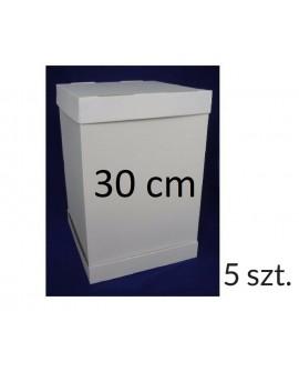 Opakowanie na tort piętrowy 30x30 cm WYSOKOŚĆ 45 cm 5 KOMPLETÓW Pudełko wysokie