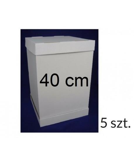 Opakowanie na tort piętrowy 40x40 cm WYSOKOŚĆ 45 cm 5 KOMPLETÓW Pudełko wysokie