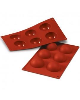 Forma silikonowa KULE 6 cm Półkule