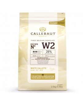 Dropsy czekoladowe Callebaut CZEKOLADA BIAŁA W2 2,5 kg