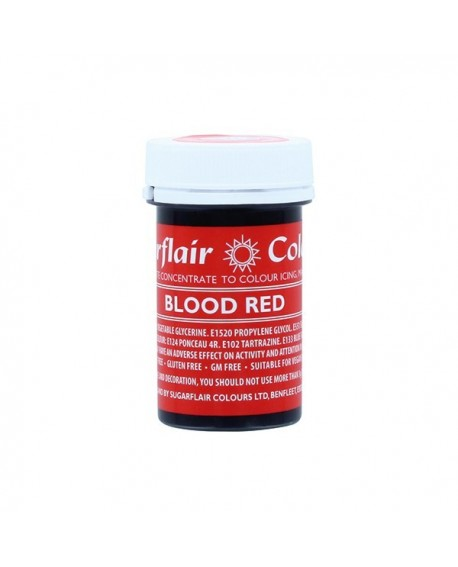 Barwnik w żelu Sugarflair KRWAWA CZERWIEŃ Blood Red